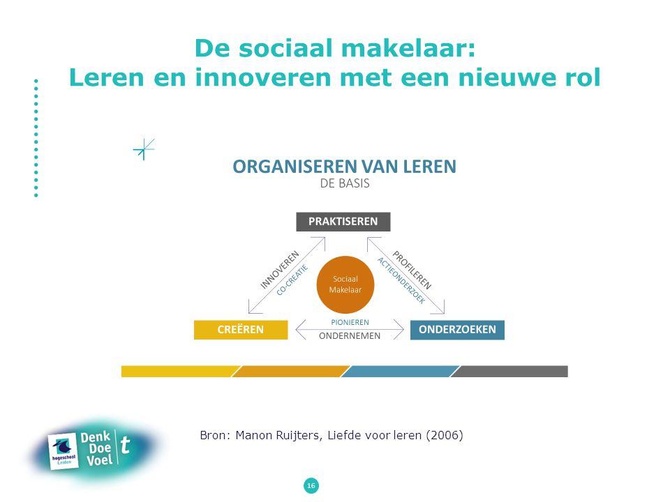 De sociaal makelaar: Leren en innoveren met een nieuwe rol