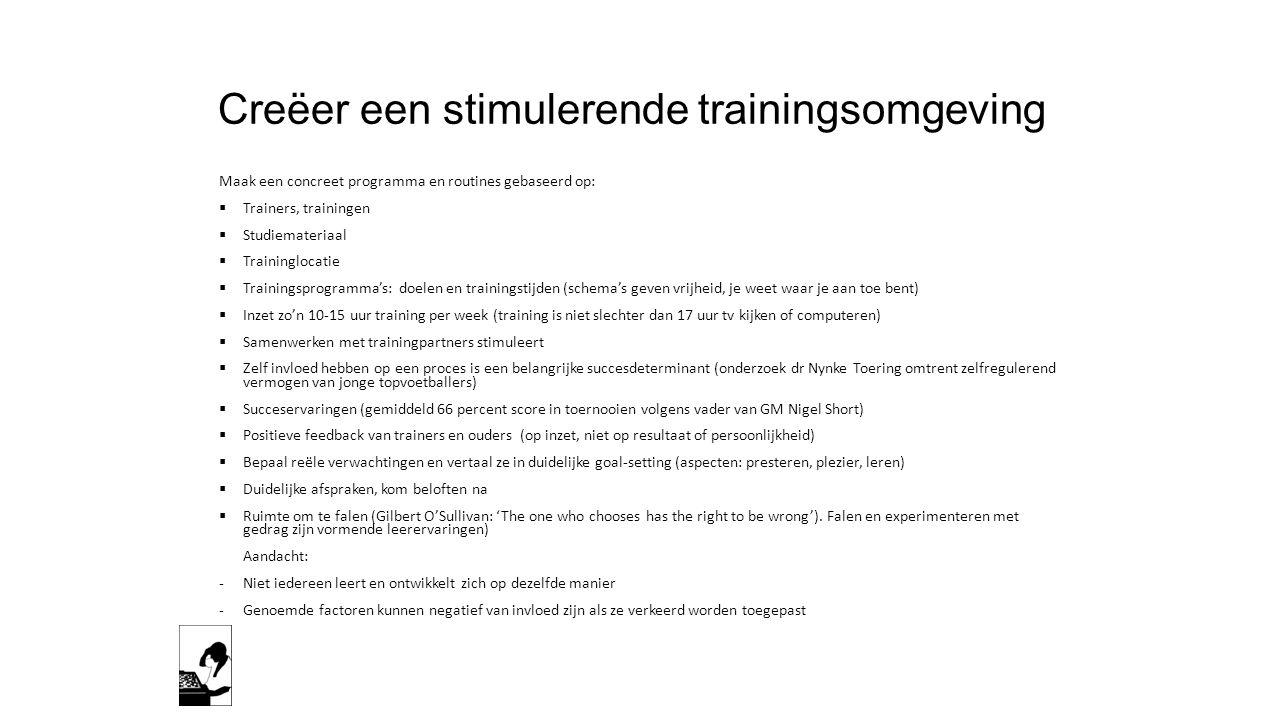 Creëer een stimulerende trainingsomgeving