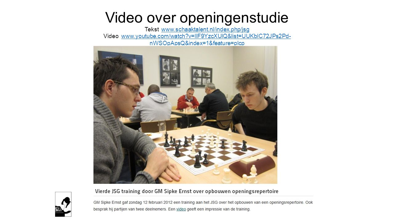 Video over openingenstudie