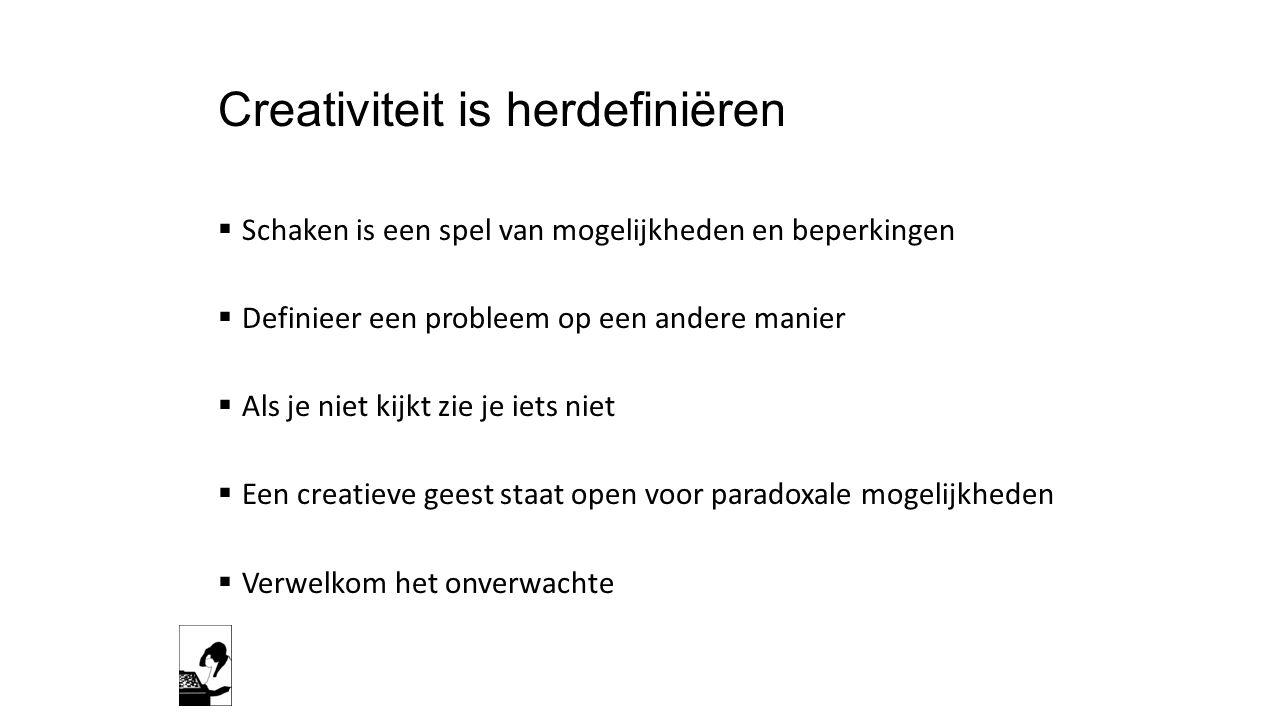 Creativiteit is herdefiniëren