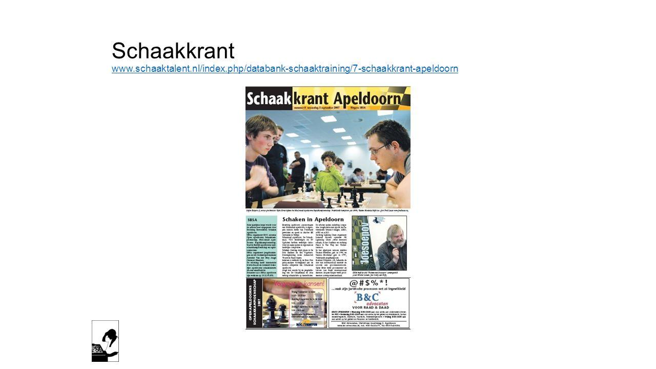 Schaakkrant www. schaaktalent. nl/index