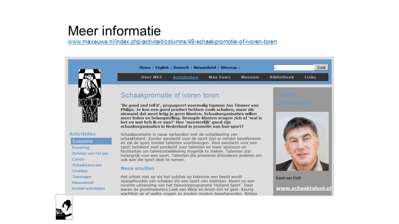 Meer informatie www. maxeuwe. nl/index