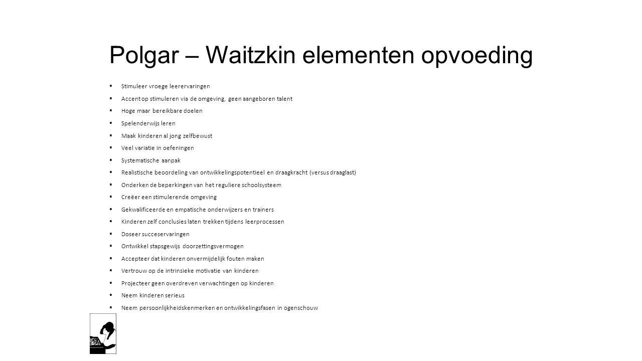 Polgar – Waitzkin elementen opvoeding