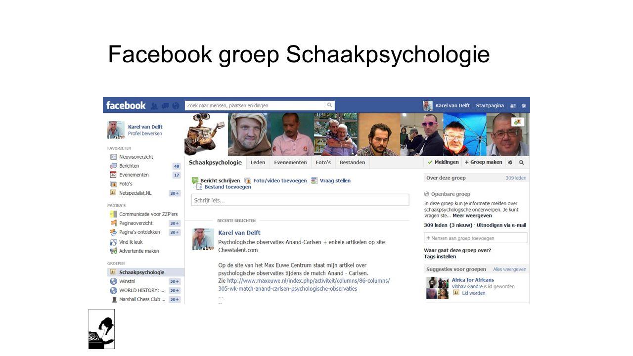 Facebook groep Schaakpsychologie