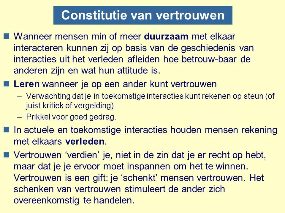 Constitutie van vertrouwen