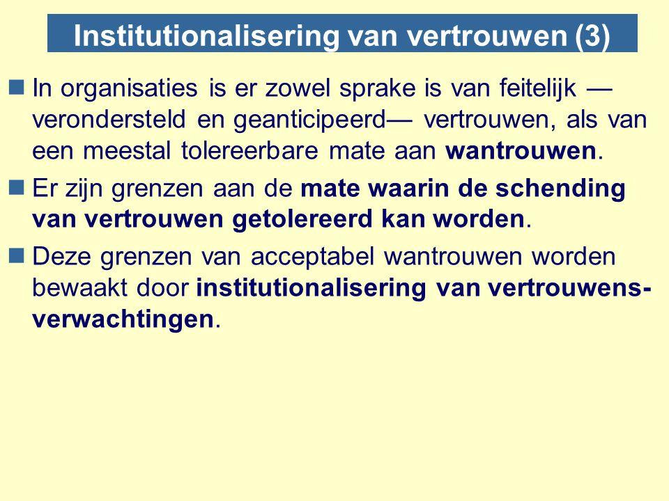 Institutionalisering van vertrouwen (3)