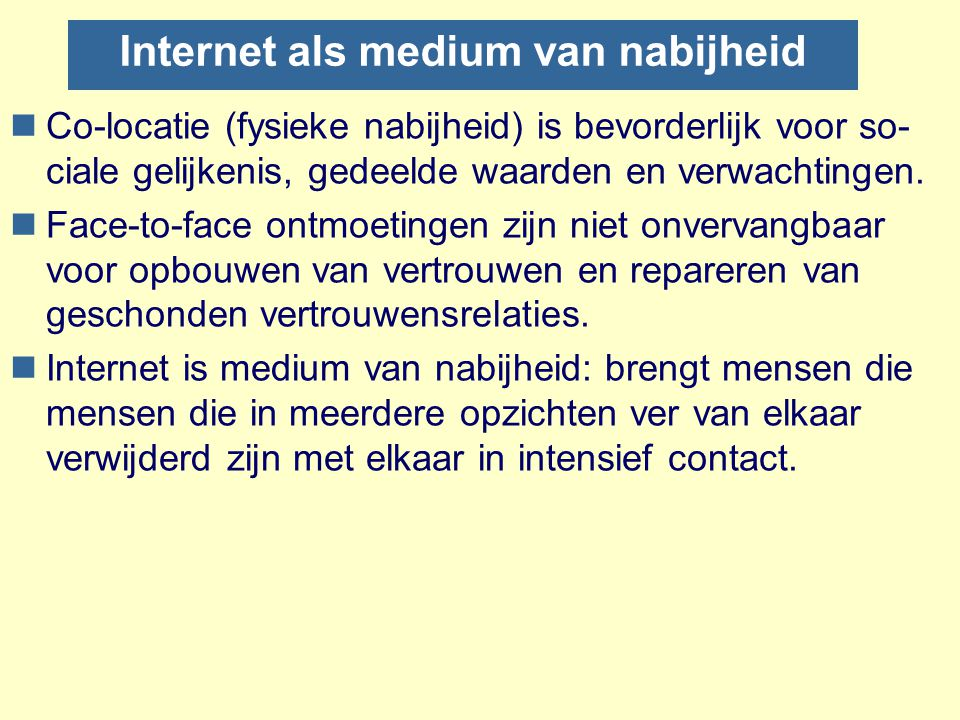 Internet als medium van nabijheid