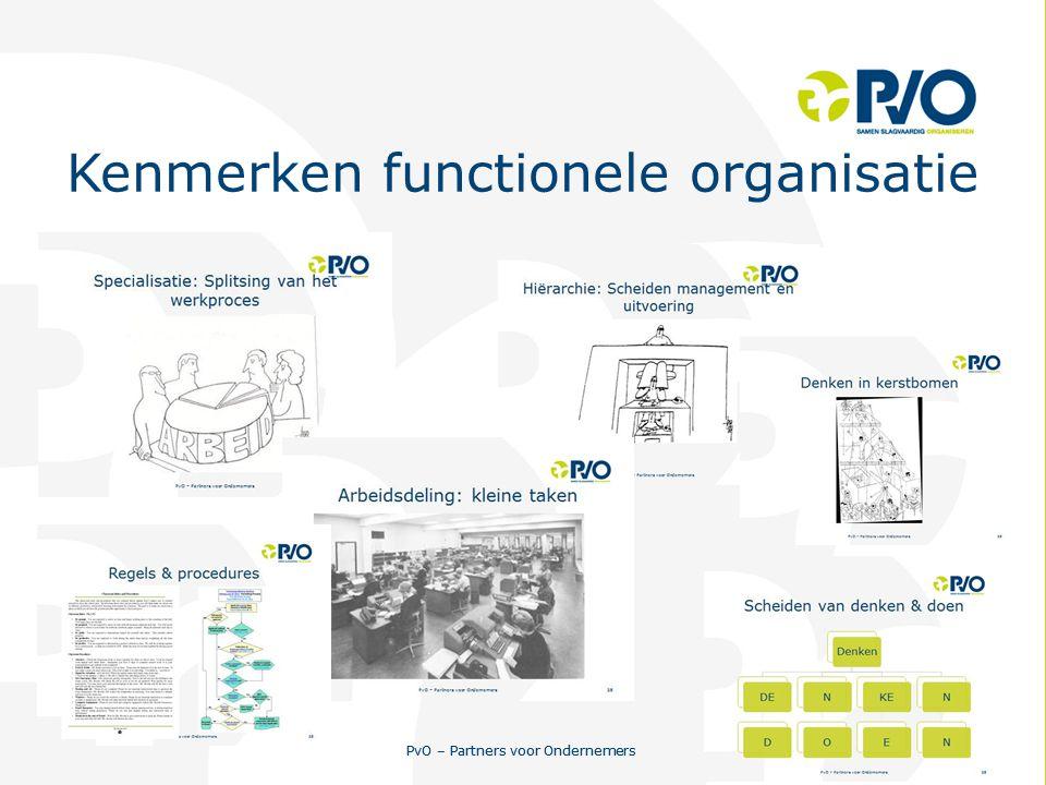 Kenmerken functionele organisatie