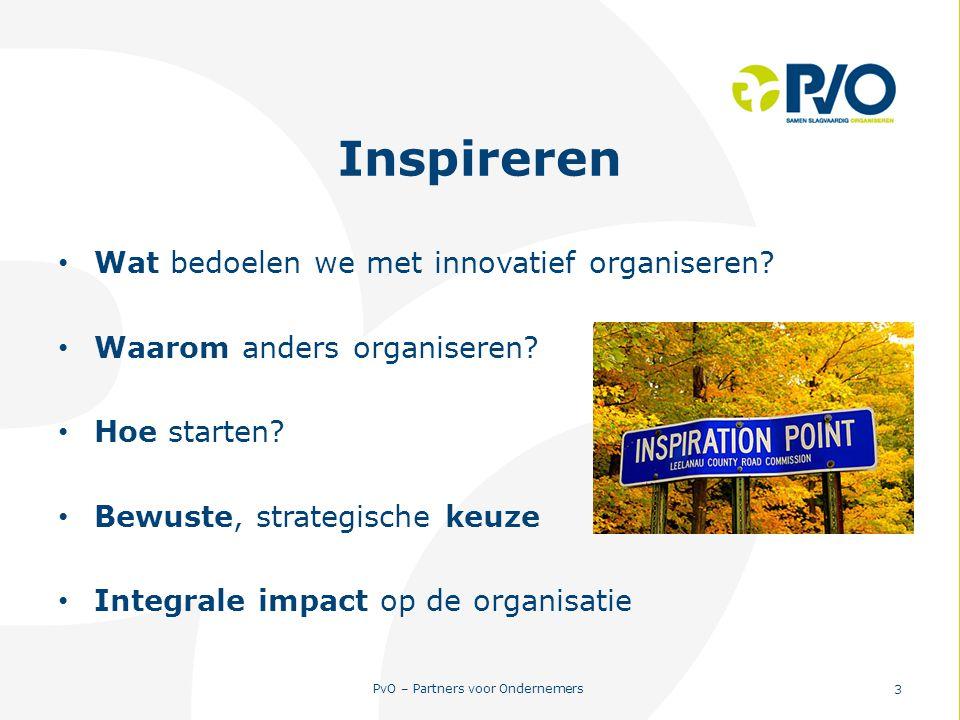 Inspireren Wat bedoelen we met innovatief organiseren