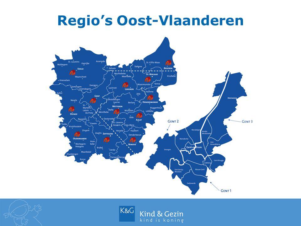 Regio's Oost-Vlaanderen