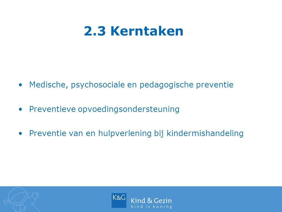 2.3 Kerntaken Medische, psychosociale en pedagogische preventie