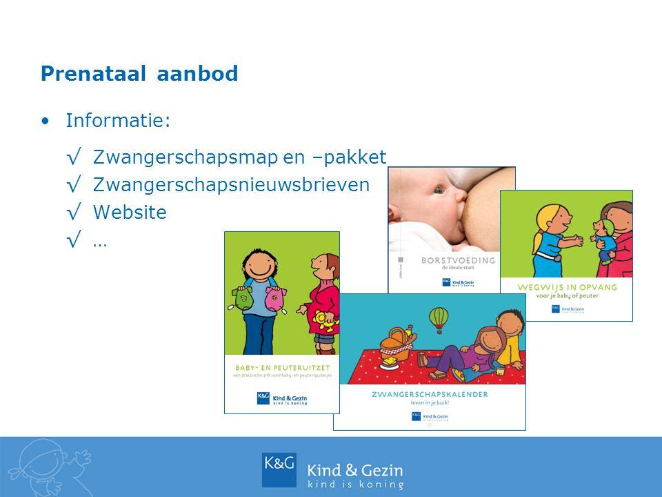 Prenataal aanbod Informatie: Zwangerschapsmap en –pakket