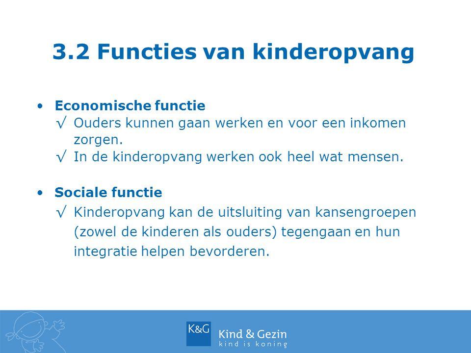3.2 Functies van kinderopvang