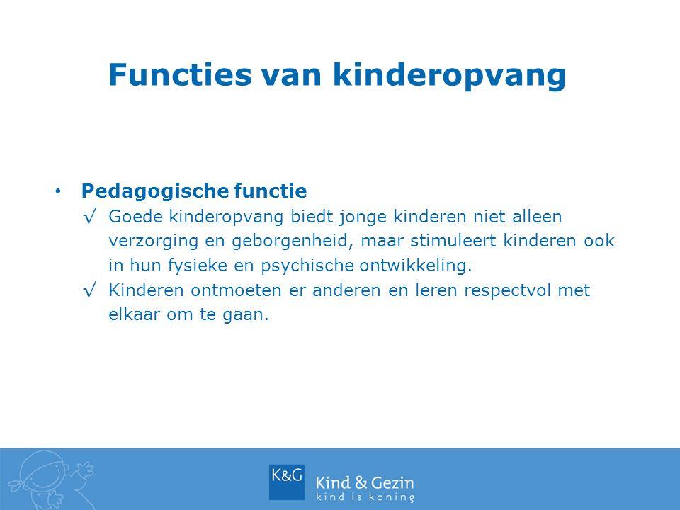 Functies van kinderopvang