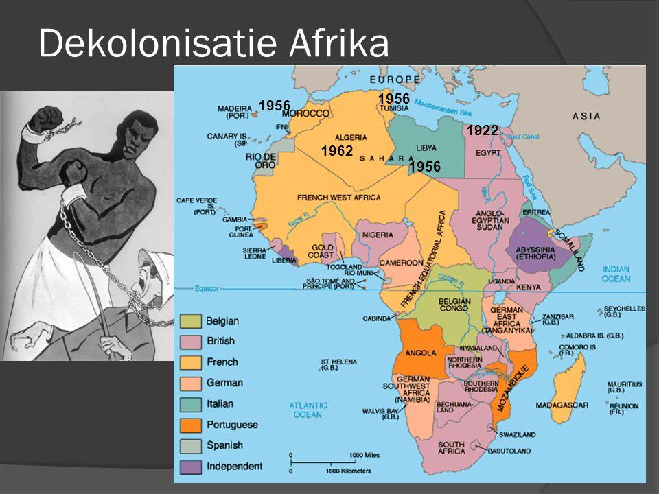Dekolonisatie Afrika 1956 1956 1922 1962 1956