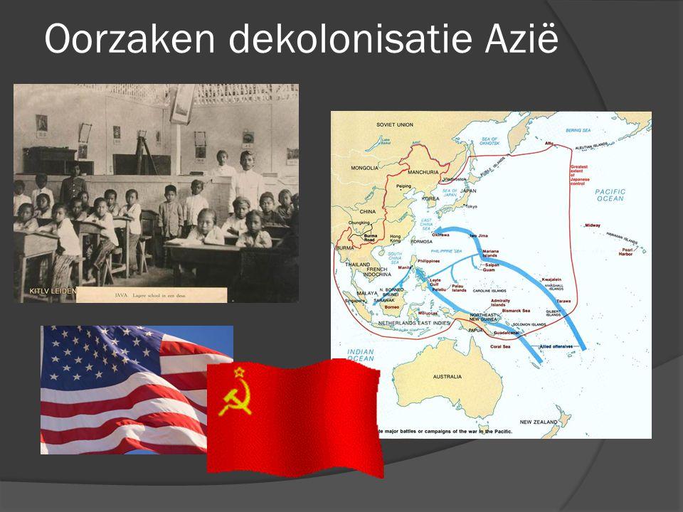 Oorzaken dekolonisatie Azië