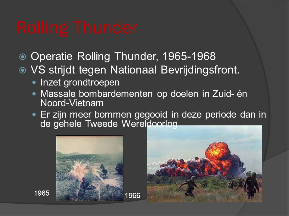 Rolling Thunder Operatie Rolling Thunder, 1965-1968