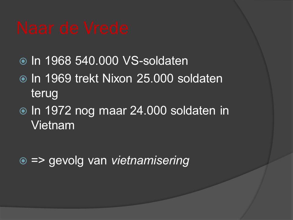 Naar de Vrede In 1968 540.000 VS-soldaten