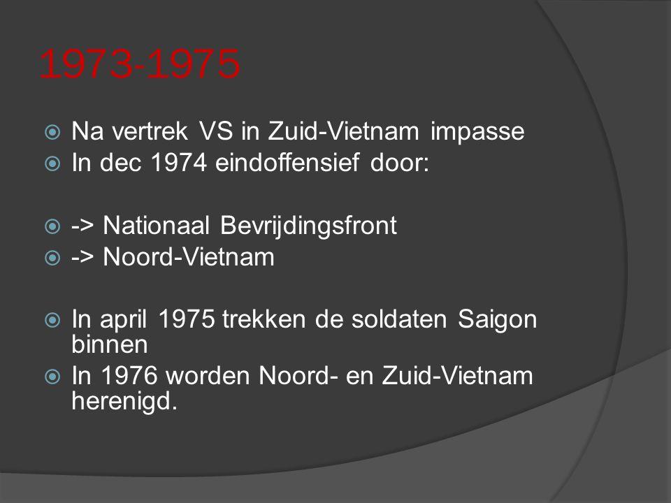 1973-1975 Na vertrek VS in Zuid-Vietnam impasse