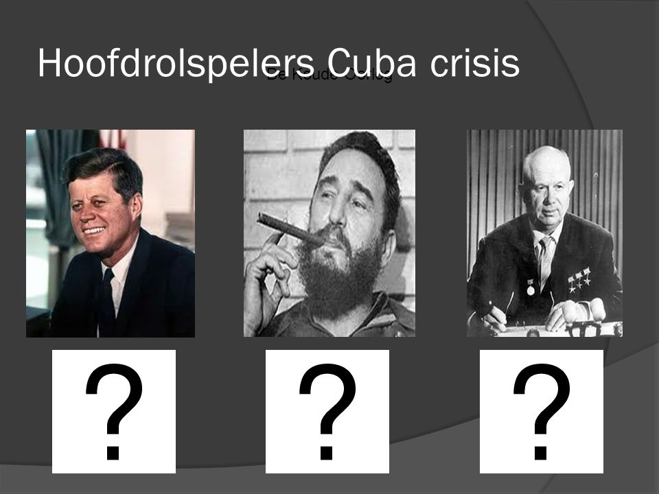 Hoofdrolspelers Cuba crisis