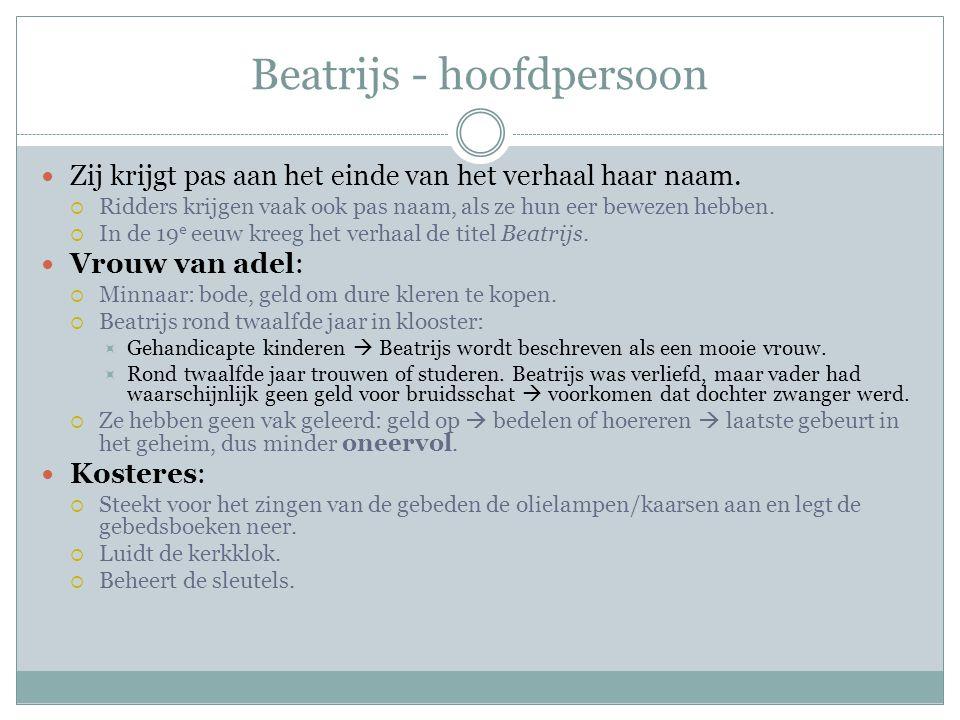 Beatrijs - hoofdpersoon