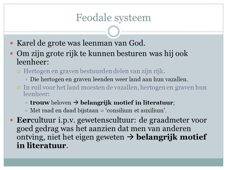 Feodale systeem Karel de grote was leenman van God.