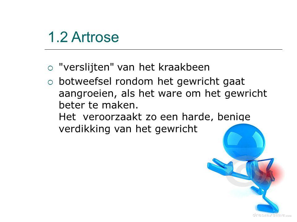1.2 Artrose verslijten van het kraakbeen