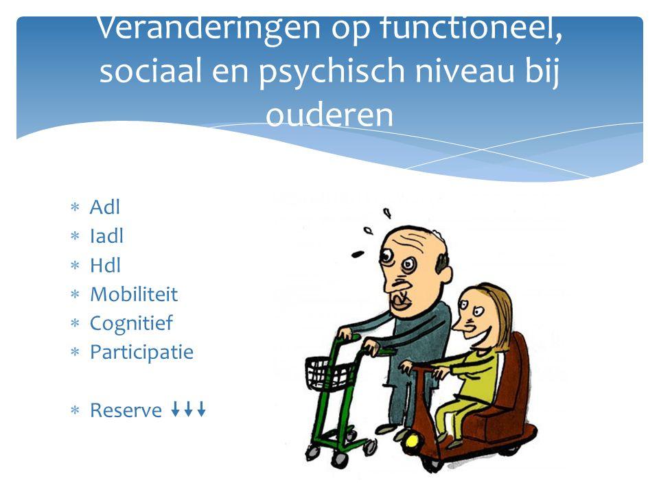 Veranderingen op functioneel, sociaal en psychisch niveau bij ouderen