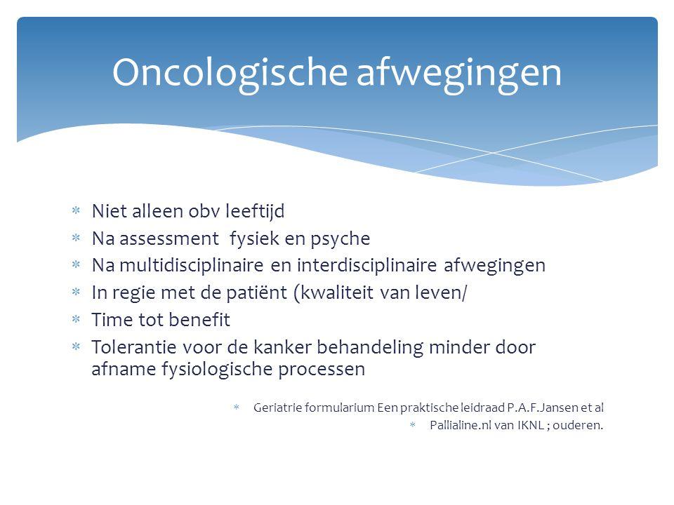 Oncologische afwegingen