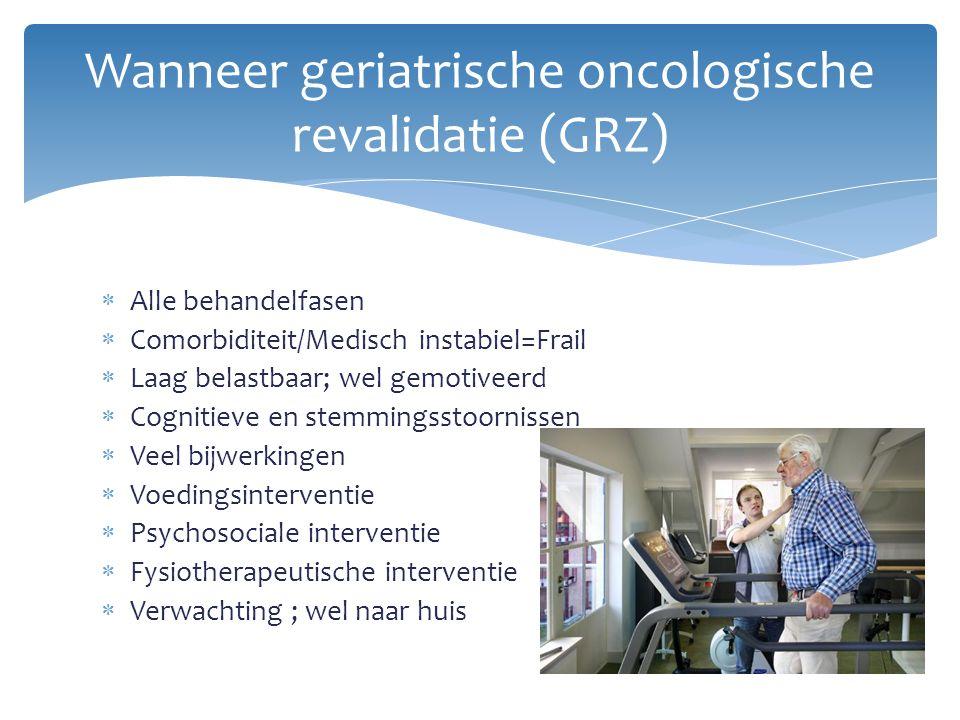 Wanneer geriatrische oncologische revalidatie (GRZ)