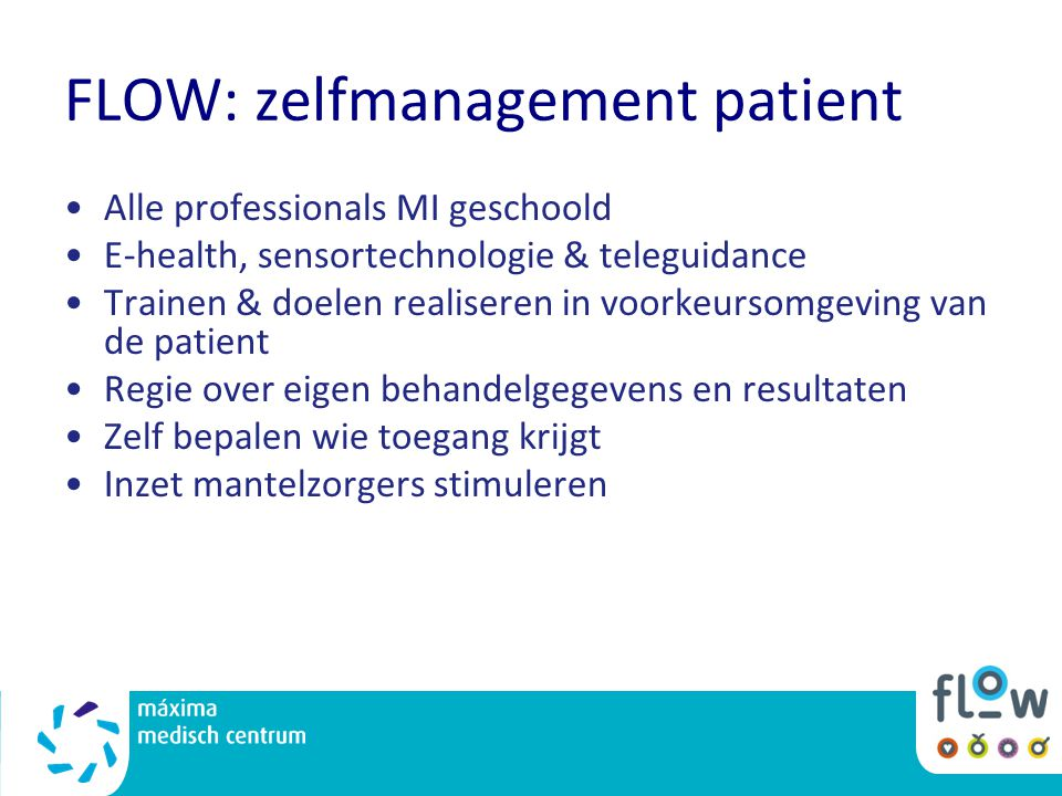 FLOW: zelfmanagement patient