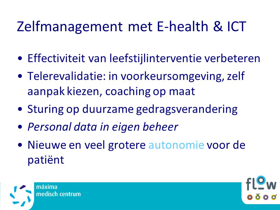 Zelfmanagement met E-health & ICT