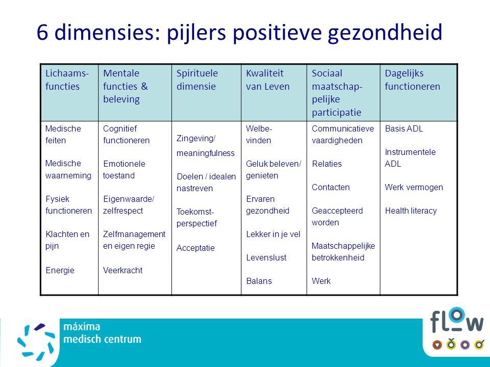 6 dimensies: pijlers positieve gezondheid