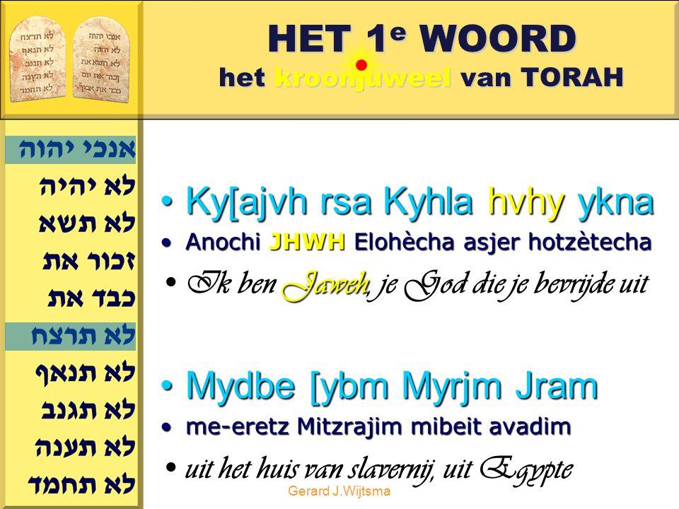 HET 1e WOORD het kroonjuweel van TORAH