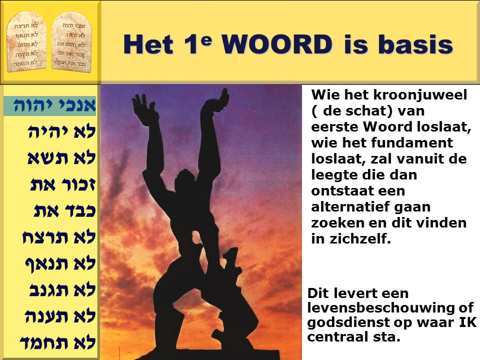 Het 1e WOORD is basis
