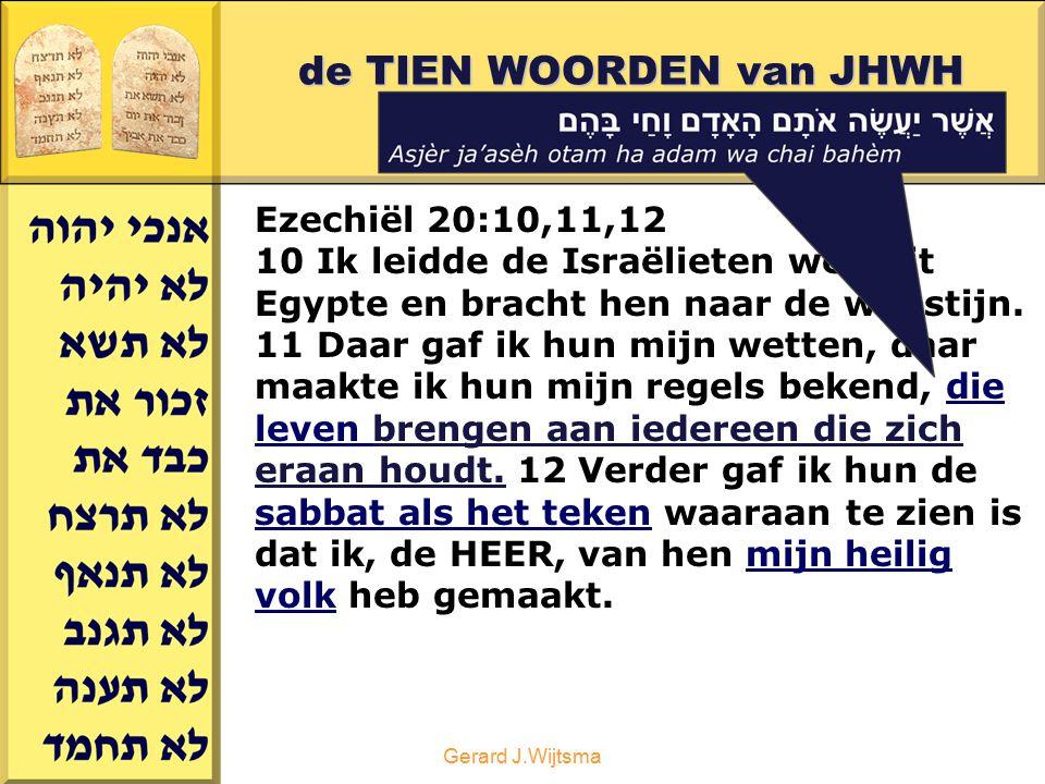 de TIEN WOORDEN van JHWH deel 2