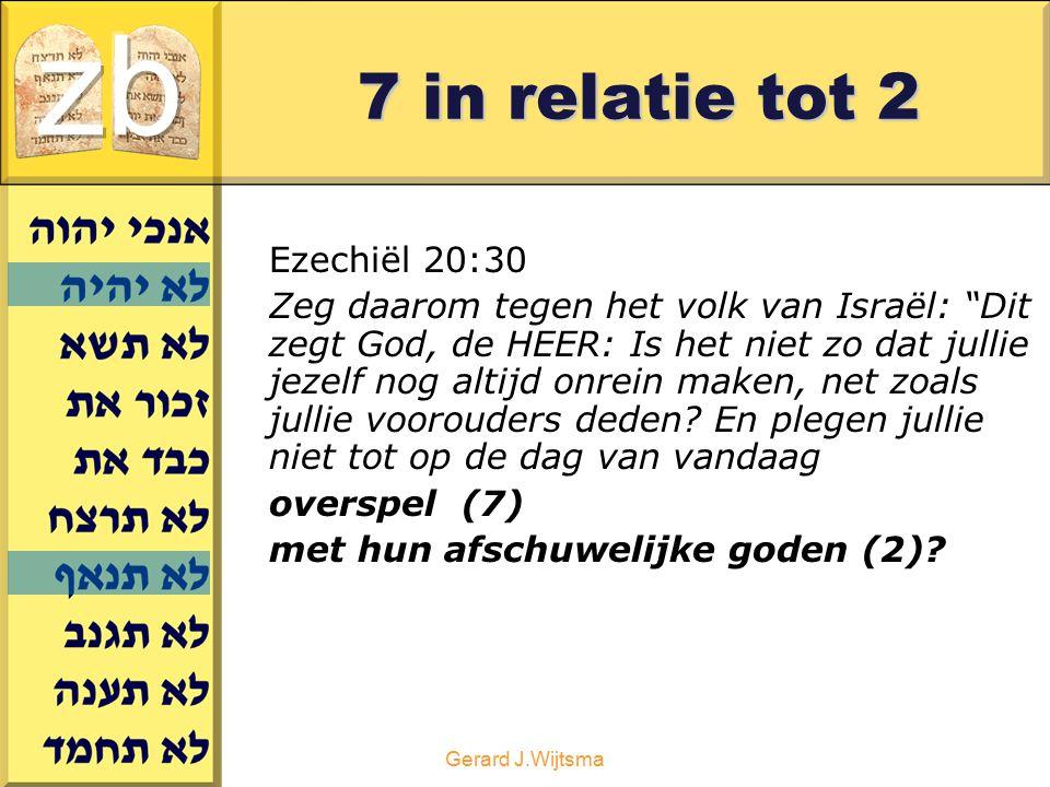zb 7 in relatie tot 2 Ezechiël 20:30