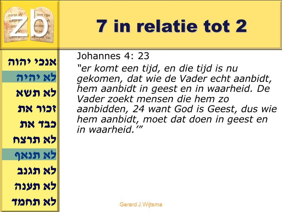 zb 7 in relatie tot 2 Johannes 4: 23