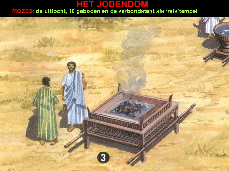 HET JODENDOM MOZES: de uittocht, 10 geboden en de verbondstent als 'reis'tempel