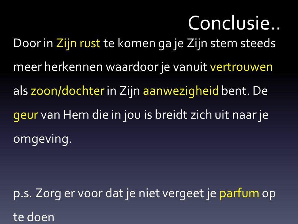 Conclusie..