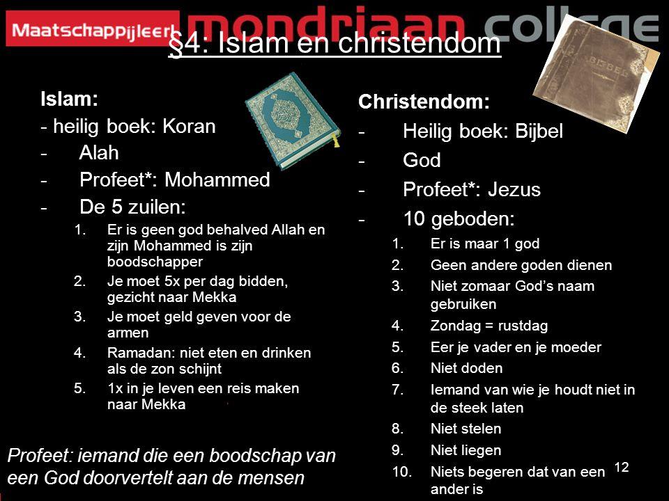 §4: Islam en christendom