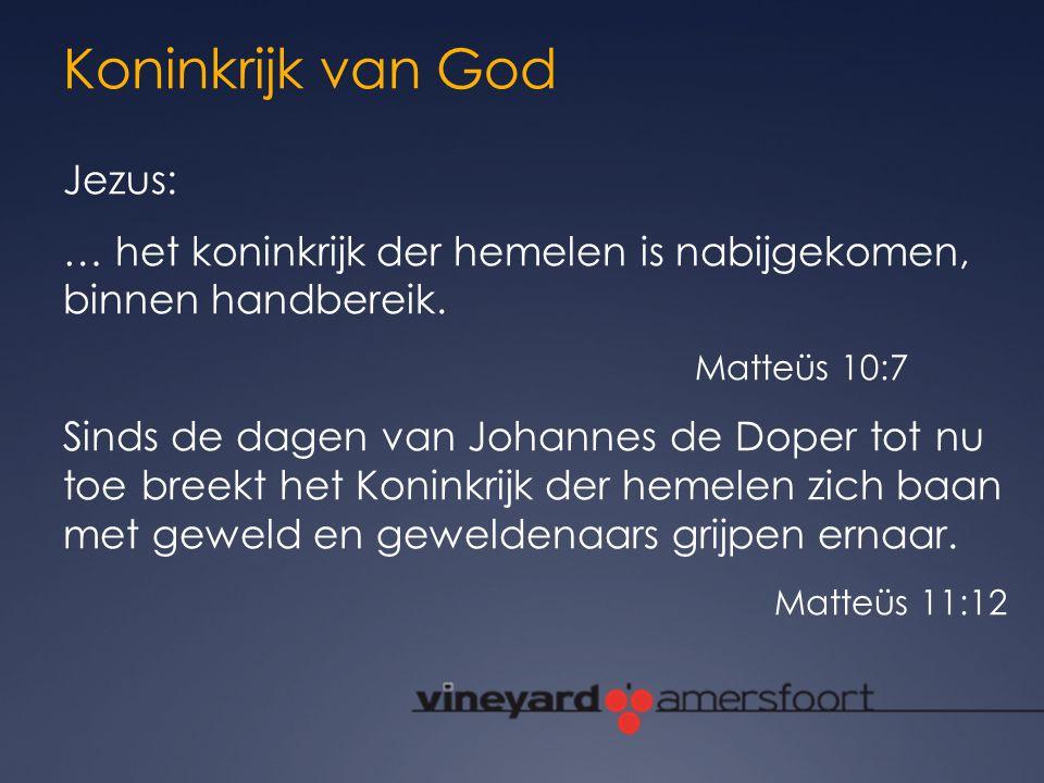 Koninkrijk van God Jezus: