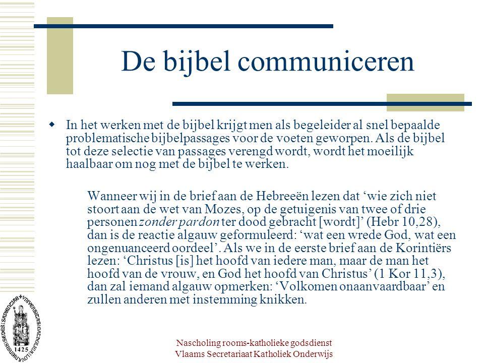 De bijbel communiceren