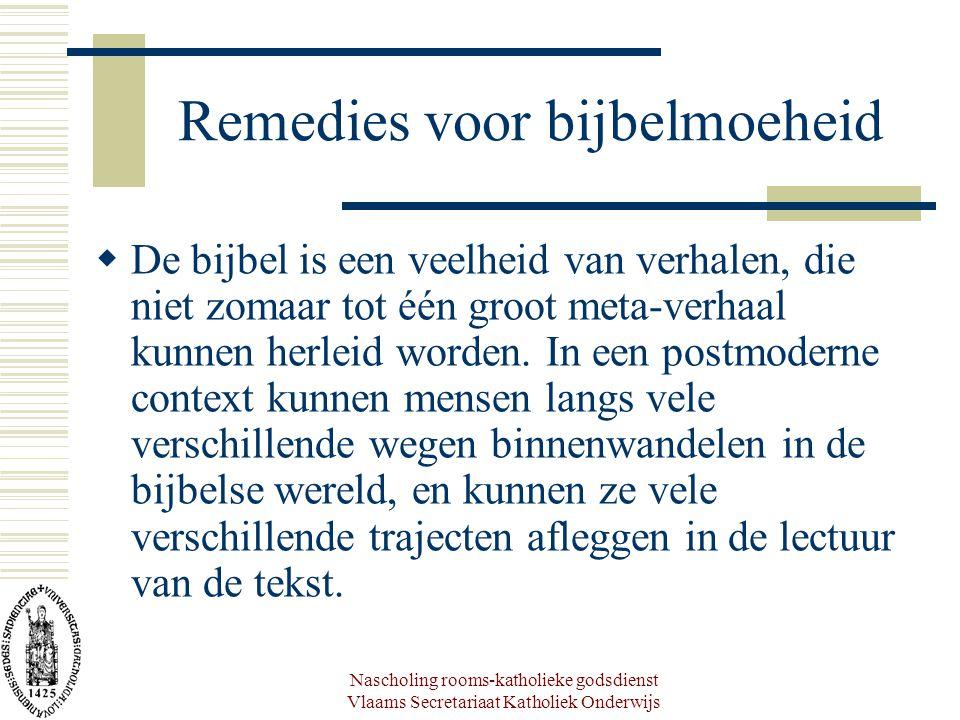 Remedies voor bijbelmoeheid