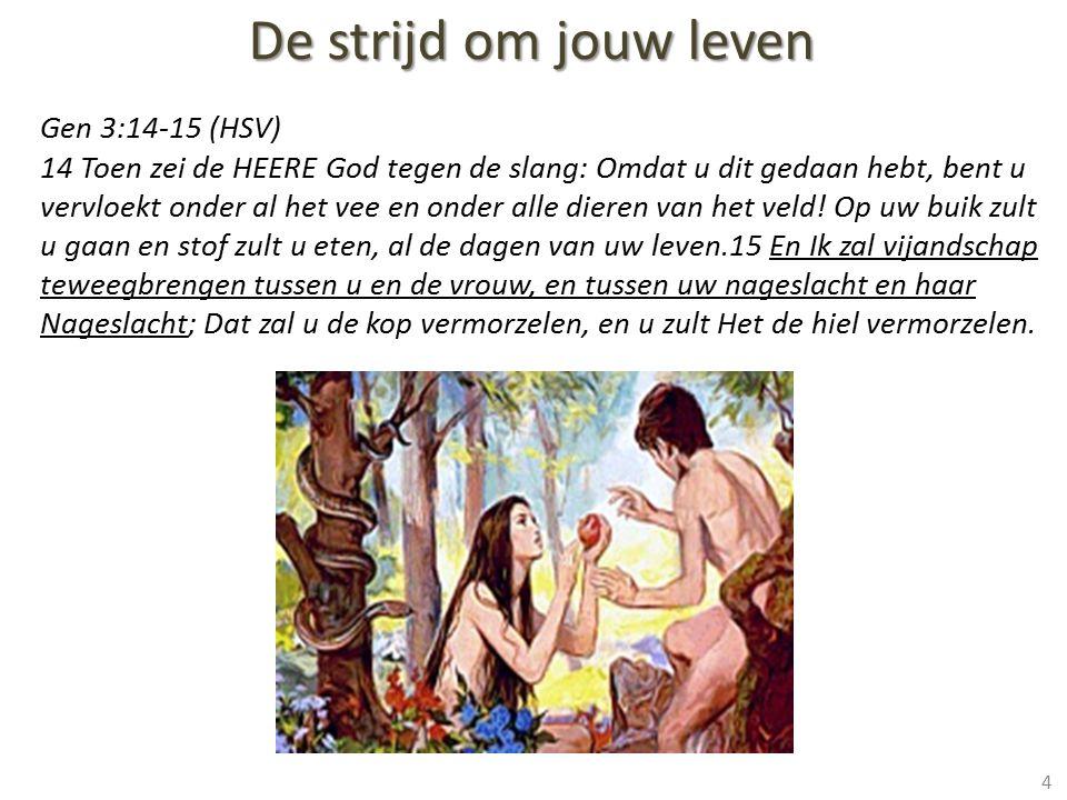 De strijd om jouw leven Gen 3:14-15 (HSV)
