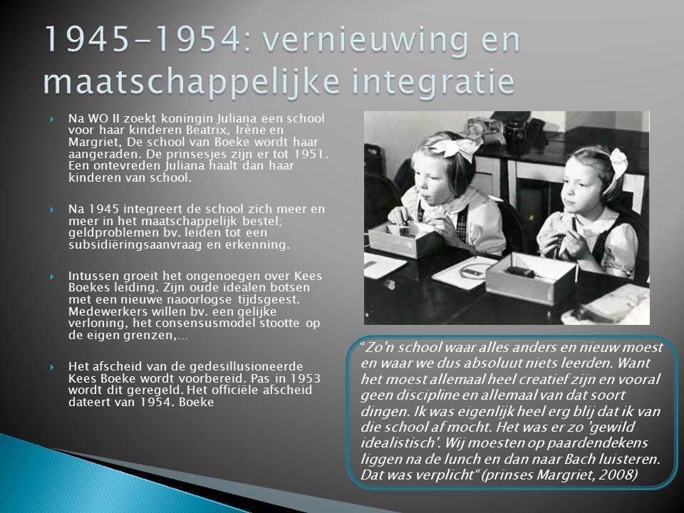 1945-1954: vernieuwing en maatschappelijke integratie