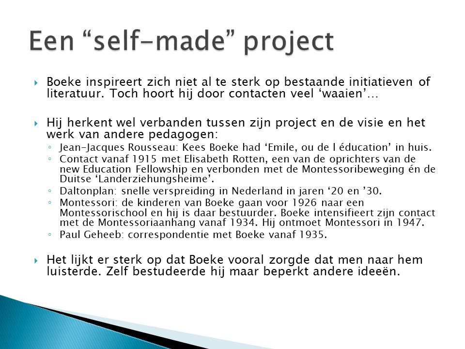 Een self-made project