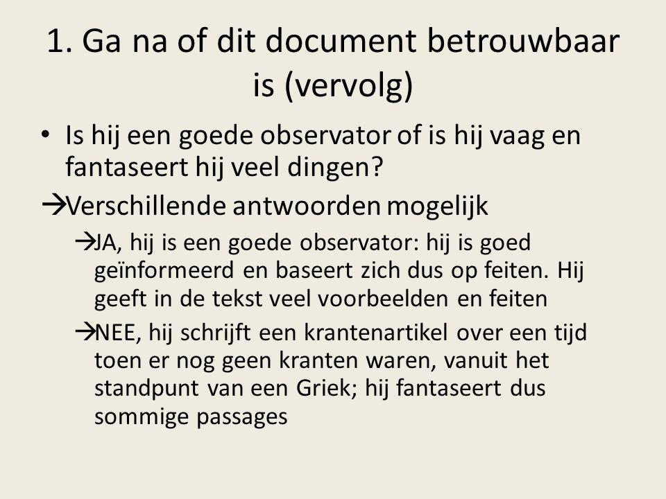 1. Ga na of dit document betrouwbaar is (vervolg)