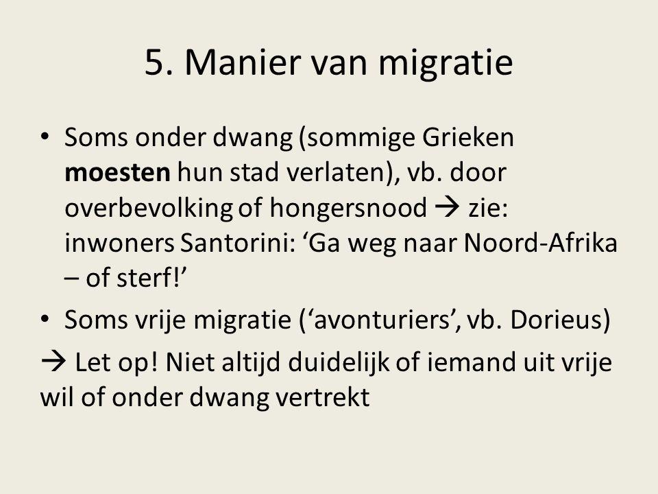 5. Manier van migratie