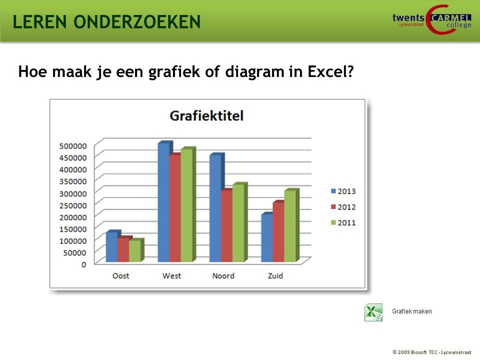 LEREN ONDERZOEKEN Hoe maak je een grafiek of diagram in Excel